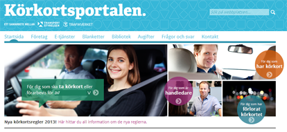 The Driving Licence Portal, open a new browser window
