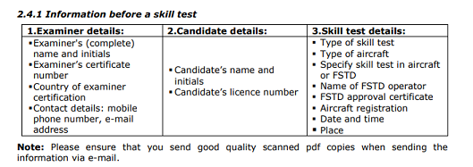 Information before a skill test